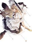 1girl broom broom_riding commentary_request highres kirisame_marisa simple_background solo sorani_(kaeru0768) star_(symbol) touhou white_background