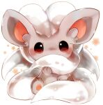 animal_focus banchiku blush brown_eyes cinccino commentary_request covered_mouth fluffy full_body gen_5_pokemon hand_up looking_at_viewer no_humans pawpads pokemon pokemon_(creature) simple_background sitting solo straight-on white_background