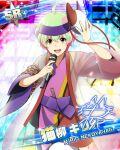 character_name dress green_hair idolmaster idolmaster_side-m nekoyanagi_kirio red_eyes short_hair smile