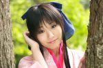cosplay hair_bow kamiya_kaoru kimono rurouni_kenshin suzukaze_yuuki