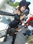 cosplay fingerless_gloves guilty_gear guitar i-no itsuya leather thigh-highs witch_hat