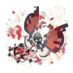 absurdres blurry bug butterfly closed_mouth creature e_volution full_body gen_6_pokemon highres insect no_humans outline pokemon pokemon_(creature) solo vivillon