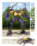 character_name decepticon highres horns mecha no_humans open_hands procreate_(medium) redesign science_fiction shrapnel_(transformers) stag_beetle theamazingspino transformers visor