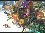 anniversary blonde_hair butiboco cape cliff cloak daruk ezlo fi green_tunic hat highres horse hyrule_warriors link loftwing looking_at_viewer mask midna mipha moon_(majora's_mask) multiple_persona navi pig pointy_ears princess_zelda revali riding scarf sheikah_slate smile tael tatl the_king_of_red_lions the_legend_of_zelda the_legend_of_zelda:_a_link_between_worlds the_legend_of_zelda:_a_link_to_the_past the_legend_of_zelda:_breath_of_the_wild the_legend_of_zelda:_four_swords the_legend_of_zelda:_link's_awakening the_legend_of_zelda:_majora's_mask the_legend_of_zelda:_ocarina_of_time the_legend_of_zelda:_skyward_sword the_legend_of_zelda:_the_minish_cap the_legend_of_zelda:_the_wind_waker the_legend_of_zelda:_twilight_princess the_legend_of_zelda_(cartoon) the_legend_of_zelda_(cd-i) the_legend_of_zelda_(nes) toon_link urbosa