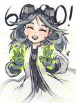 apoloniodraws ben_10 gloves goggles goggles_on_head gray_matter grey_hair grey_shirt labcoat omnitrix pose shirt smile thank_you