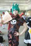 chinadress cosplay green_hair katou_mari photo qipao shaman_king tao_jun
