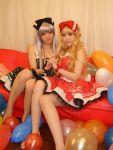 blonde_hair cosplay hair_bow photo polka_dots saya silver_hair tsugihagi_mishin
