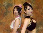 amane chinadress cosplay diao_chan dynasty_warriors flower hair_ribbons midriff miku qipao zhen_ji