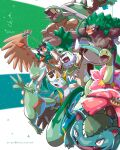 arrow_(projectile) artist_name bright_pupils chesnaught clenched_teeth closed_mouth commentary decidueye english_commentary fangs gen_1_pokemon gen_2_pokemon gen_3_pokemon gen_4_pokemon gen_5_pokemon gen_6_pokemon gen_7_pokemon gen_8_pokemon highres holding kelvin-trainerk meganium open_mouth orange_eyes pokemon pokemon_(creature) rillaboom sceptile serperior teeth tongue torterra venusaur