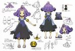 1boy 2girls :< :3 ? acerola_(pokemon) arm_behind_back armlet bangs chasing closed_eyes closed_mouth collarbone concept_art dress elio_(pokemon) elite_four eye_contact eyelashes gen_1_pokemon gen_7_pokemon gengar grey_eyes hair_ornament height height_chart looking_at_another looking_at_viewer looking_up medium_hair mimikyu multicolored multicolored_clothes multicolored_dress multiple_girls multiple_views number official_art open_mouth partially_colored pikachu pokemon pokemon_(creature) pokemon_(game) pokemon_sm purple_hair raised_eyebrows sandals selene_(pokemon) short_sleeves smile speech_bubble spoken_question_mark standing stitches toes tongue topknot translation_request