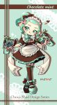 1girl :q apron artist_name back_bow black_bow black_dress black_footwear black_legwear bow bow_legwear bowtie closed_mouth commentary_request doily dress dual_wielding english_text frilled_dress frills full_body glooga_dualies_(splatoon) green_eyes green_footwear green_hair green_legwear green_neckwear hair_bow heart highres holding holding_weapon licking_lips looking_at_viewer maid maid_apron maid_headdress makeup mary_janes mascara medium_dress mismatched_footwear mismatched_legwear mokokoiro octoling pink_bow pointy_ears ponytail puffy_short_sleeves puffy_sleeves shadow shoes short_hair short_sleeves signature smile solo splatoon_(series) standing tentacle_hair thigh-highs tongue tongue_out weapon white_apron