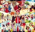 6+boys 6+girls :q anniversary antenna_hair arms_up atori12 bag baseball_cap bayleef between_breasts black_hair black_shirt blue_jacket blue_oak blue_shirt blush box braixen breasts brendan_(pokemon) brown_eyes brown_hair calem_(pokemon) champion_uniform chespin chimchar clenched_hand closed_eyes clouds commentary_request dawn_(pokemon) dewott elio_(pokemon) ethan_(pokemon) eyelashes flower gen_2_pokemon gen_3_pokemon gen_4_pokemon gen_5_pokemon gen_6_pokemon gen_7_pokemon gift gift_box gloria_(pokemon) green_shorts greninja grey_eyes grovyle hand_in_pocket hand_on_headwear hand_up hat highres hilbert_(pokemon) hilda_(pokemon) holding holding_flower holding_poke_ball jacket knees leaf_(pokemon) long_hair looking_at_viewer lucas_(pokemon) lyra_(pokemon) may_(pokemon) mudkip multiple_boys multiple_girls nate_(pokemon) on_head one_eye_closed open_mouth outline pants petals pink_bag pink_headwear piplup pleated_skirt poke_ball poke_ball_(basic) pokemon pokemon_(creature) pokemon_(game) pokemon_bw pokemon_bw2 pokemon_dppt pokemon_emerald pokemon_frlg pokemon_hgss pokemon_on_head pokemon_rse pokemon_sm pokemon_swsh pokemon_xy primarina quilava red_(pokemon) red_shirt red_skirt rosa_(pokemon) rowlet scarf selene_(pokemon) serena_(pokemon) shirt short_sleeves shorts sidelocks skirt sky smile standing starter_pokemon strap_between_breasts striped striped_shirt sunglasses teeth tepig tied_shirt tongue tongue_out torchic torracat torterra totodile tree vest victor_(pokemon) vs_seeker white-framed_eyewear white_headwear wristband |d