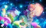 blush dress long_hair momoi_airi pink_eyes pink_hair project_sekai smile spring_(season)