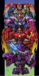 5boys arm_cannon beast_machines beast_wars beast_wars_ii beast_wars_neo blue_eyes clenched_teeth ct990413 galvatron green_eyes looking_at_viewer looking_to_the_side magmatron mecha megatron megatron_(beast_wars) multiple_boys no_humans open_hand predacon red_eyes science_fiction teeth transformers v-fin weapon