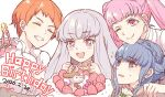 2020 4girls :d ;) birthday birthday_cake blue_hair blush braid bright_pupils cake candle closed_eyes crown_braid dated deer drooling english_text eyebrows_visible_through_hair fire_emblem fire_emblem:_three_houses food hilda_valentine_goneril leonie_pinelli long_hair lysithea_von_ordelia marianne_von_edmund multiple_girls nijihayashi one_eye_closed open_mouth orange_hair pink_hair short_hair simple_background smile upper_body white_background white_hair white_pupils