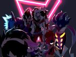 galarian_form galarian_zigzagoon gen_5_pokemon gen_8_pokemon kogashirou male_focus piers_(pokemon) pokemon pokemon_(game) pokemon_swsh scraggy toxtricity toxtricity_(amped) toxtricity_(low_key)