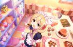 blonde_hair blush brown_eyes dress futaba_anzu idolmaster_cinderella_girls_starlight_stage long_hair smile twintails