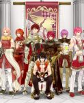 6+boys alternate_color animal_around_neck armband armor armored_boots assassin_cross_(ragnarok_online) bangle bangs banner belt bird black_armor black_footwear black_gloves black_hair black_pants book boots bottle bracelet breastplate brown_belt brown_cape brown_gloves brown_pants brown_shirt cape chainmail champion_(ragnarok_online) championship_belt closed_mouth coat column commentary_request creator_(ragnarok_online) crop_top cross crossed_arms detached_sleeves emblem eyebrows_visible_through_hair eyes_visible_through_hair falcon fingerless_gloves full_body fur-trimmed_gloves fur-trimmed_pants fur-trimmed_shirt fur-trimmed_shorts fur_trim gauntlets gloves hair_between_eyes holding holding_book holding_bottle hooded_coat jewelry leg_armor living_clothes looking_at_viewer lord_knight_(ragnarok_online) low_ponytail male_focus medium_hair midriff multiple_boys navel open_clothes open_coat open_mouth open_shirt paladin_(ragnarok_online) pants pants_under_shorts pauldrons pillar pink_hair pointy_ears potion pouch professor_(ragnarok_online) purple_hair ragnarok_online red_cape red_eyes red_footwear red_gloves red_scarf red_shirt red_shorts redhead retgra scabbard scarf sheath shirt shoes short_hair shorts shoulder_armor sitting skull sleeveless sleeveless_coat sleeveless_shirt smile sniper_(ragnarok_online) spiked_gauntlets standing striped_sleeves tabard teeth torn_scarf two-tone_gloves two-tone_shirt waist_cape white_coat white_gloves white_pants white_sleeves yellow_sleeves