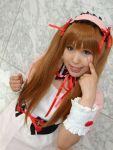 apron asahina_mikuru cosplay hair_ribbons moeka photo suzumiya_haruhi_no_yuuutsu twintails
