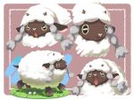 4o080_yotabnc angry commentary_request flower gen_8_pokemon grass highres horns no_humans open_mouth pokemon pokemon_(creature) pokemon_(game) pokemon_swsh sheep white_flower wooloo