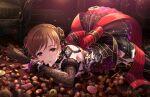 blush brown_eyes brown_hair dress idolmaster_cinderella_girls_starlight_stage long_hair nitta_minami smile valentine