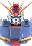 aqua_eyes gundam gundam_zz looking_ahead looking_at_viewer mecha mobile_suit nekkikamille no_humans science_fiction sketch solo upper_body v-fin white_background zz_gundam
