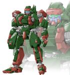 character_name grafdin looking_ahead mecha no_humans official_art one-eyed open_hands red_eyes science_fiction solo standing super_robot_wars super_robot_wars_dd teraoka_kenji transparent_background