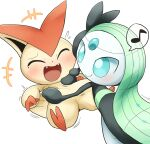gen_5_pokemon meloetta mythical_pokemon pokemon tickling victini vitamin_t