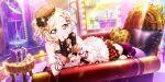 blonde_hair blush dress love_live!_school_idol_festival_all_stars miyashita_ai short_hair yellow_eyes