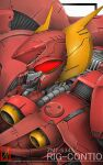 character_name denjyou23 from_above gundam highres looking_ahead mecha mobile_suit no_humans red_eyes rig_contio science_fiction solo upper_body victory_gundam zanscare