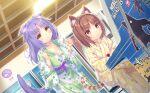 2girls animal_ears azuki_(nekopara) cat_ears cat_girl cat_tail cinnamon_(nekopara) highres multiple_girls nekopara sayori_(neko_works) tail