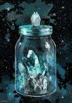 bird bottle crystal fantasy ice in_bottle in_container no_humans nomiya_(no_38) original penguin quartz_(gemstone) sky snowflakes star_(sky) starry_sky surreal