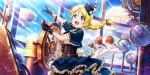 ayase_eli blonde_hair blue_eyes blush dress long_hair love_live!_school_idol_festival_all_stars ponytail smile steampunk