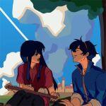1boy 1girl blue_hair fire_emblem marth marth_(fire_emblem) sheeda sheeda_(fire_emblem)