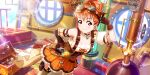 blush dress love_live!_school_idol_festival_all_stars orange_hair red_eyes short_hair smile steampunk takami_chika