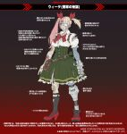 1girl bandaged_arm bandages bandaid bandaid_on_arm bandaid_on_face bandaid_on_knee belt blonde_hair burn_scar concept_art cyborg daichan_mona eyepatch green_skirt hair_ribbon mechanical_arms mechanical_legs medical_eyepatch metal_slug metal_slug_attack multicolored_hair official_art one_eye_covered pink_hair pouch red_footwear ribbon scar single_mechanical_arm single_mechanical_leg skirt socks solo torn_clothes torn_skirt torn_sleeves translation_request twintails vita_(metal_slug)