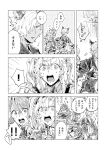 animal_ears beatrix_(granblue_fantasy) cat_ears erune eustace_(granblue_fantasy) flower granblue_fantasy hair_intakes hairband hibiscus kazzu long_hair o-ring o-ring_top open_mouth polearm ponytail shawl short_hair spear translation_request twintails weapon zeta_(granblue_fantasy)