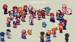 6+boys 6+girls artist_name ash_ketchum blue_oak brock_(pokemon) camera chansey character_request gen_1_pokemon hat huttaburger joy_(pokemon) misty_(pokemon) multiple_boys multiple_girls nurse nurse_cap pikachu pixel_art pokemon pokemon_(anime) pokemon_(creature) pokemon_(game) red_(pokemon) squirtle