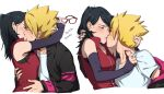 black_eyes black_hair blonde_hair blue_eyes blue_hair boruto:_naruto_next_generations glasses naruto naruto_(series) uchiha_sarada uzumaki_boruto whisker_markings whiskers