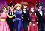 3boys 3girls arms_behind_back ballroom black_hair blonde_hair blue_dress blue_eyes blue_rose blush brown_eyes brown_hair couple curtains dance deviantart deviantart_username flower fudou_yuusei happy innocent izayoi_aki ladder mazaki_anzu multicolored_dress multicolored_hair mutou_yuugi necklace necktie orange_eyes pink_dress purple_eyes red_dress red_rose red_tie redhead rose rose_earrings sincity2100 smile tenjouin_asuka tuxedo window yellow_dress yellow_eyes yu-gi-oh! yuu-gi-ou yuu-gi-ou_5d's yuu-gi-ou_duel_monsters yuu-gi-ou_gx yuu-gi-ou_the_dark_side_of_dimensions yuuki_juudai