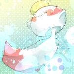 blush blush_stickers chimecho closed_mouth commentary_request full_body gen_3_pokemon mitobe_asuka no_humans pokemon pokemon_(creature) smile solo yellow_eyes