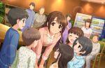 blush brown_eyes brown_hair dress idolamster_cinderella_girls_starlight_stage long_hair shimamura_uzuki smile