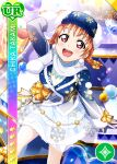 blush character_name dress love_live!_school_idol_festival love_live!_sunshine!! orange_hair red_eyes short_hair smile takami_chika winter