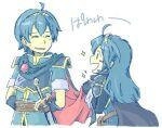 1boy 1girl blue_hair fire_emblem fire_emblem_awakening lucina_(fire_emblem) marth