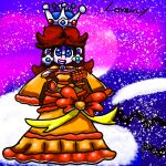 1girl christmas dress gameartist1993 highres mario_(series) princess princess_daisy self_upload solo