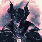 1boy bloodborne chain cloak hat hunter_(bloodborne) jewelry looking_at_viewer mask mouth_mask necklace pendant shimhaq solo violet_eyes