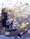 1boy asrkgk_(asura) dark_skin dark_skinned_male dissolving fading fate/grand_order fate_(series) goetia_(fate) highres long_hair red_eyes solo