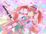 bang_dream! blue_eyes blush chu2_(bang_dream!) long_hair pink_hair smile twintails yukata