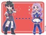 1boy 1girl fire_emblem fire_emblem:_kakusei fire_emblem:_rekka_no_ken fire_emblem:_the_blazing_blade fire_emblem_awakening florina_(fire_emblem) lonqu purple_hair shy