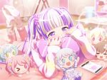 bang_dream! blush dress long_hair pareo_(bang_dream!) pink_eyes pink_hair smile